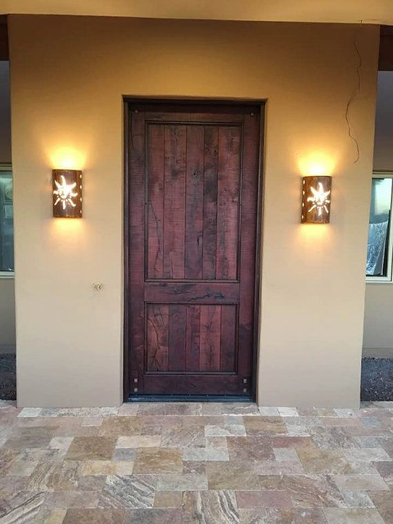Southwestern Sun Outdoor Wall Sconce, Rustic Decor ... on Wall Sconce Lighting Decor id=40661
