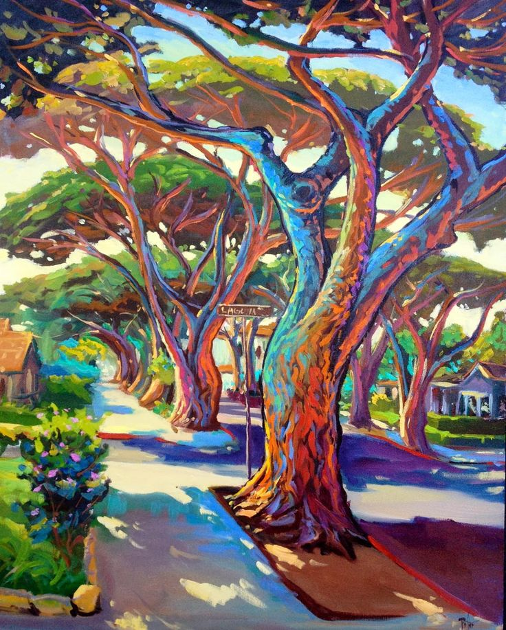 I just love this. The colors and rhythm is beautiful. Chris Potter, artist