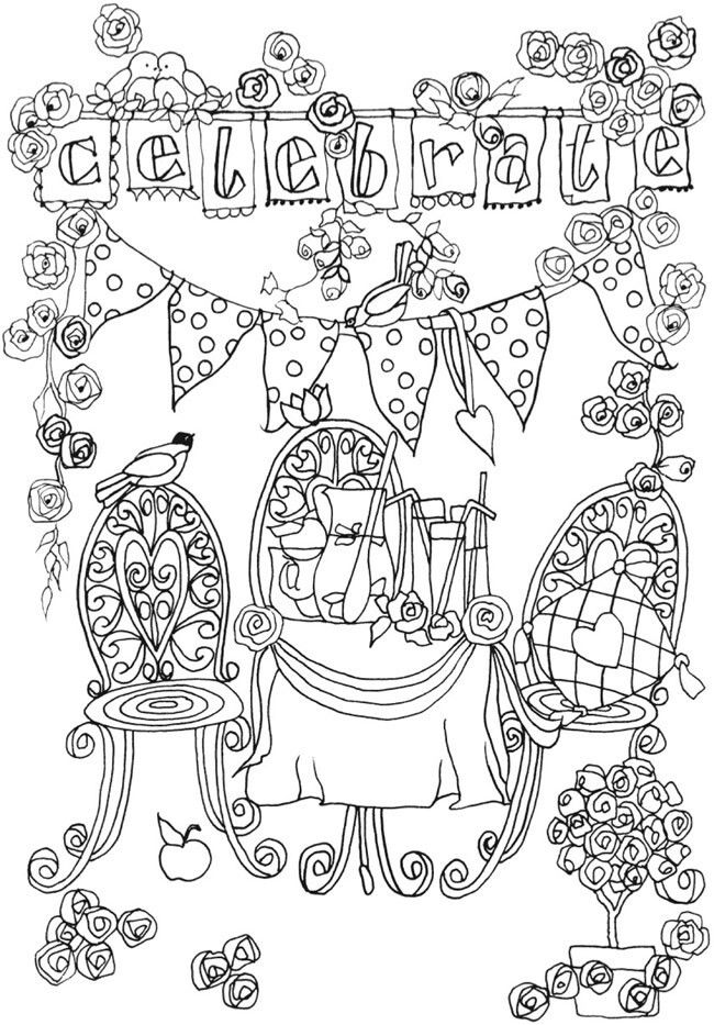 119 best Happy birthday coloring pages images on Pinterest