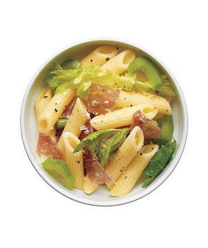 Pasta Salad With Salami and Celery Recipe