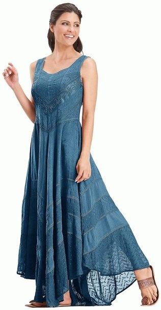 Amazon.com: Holy Clothing Venus Diamond Neck Satin & Lace Full A-Line Skirt Sun Dress: Clothing
