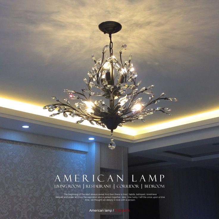 2016 Kreative Kunst Deco Pendelleuchte Moderne Kristall Kronleuchter Beleuchtung Baum Blatt Fr Schlafzimmer Kinder Led Lampen