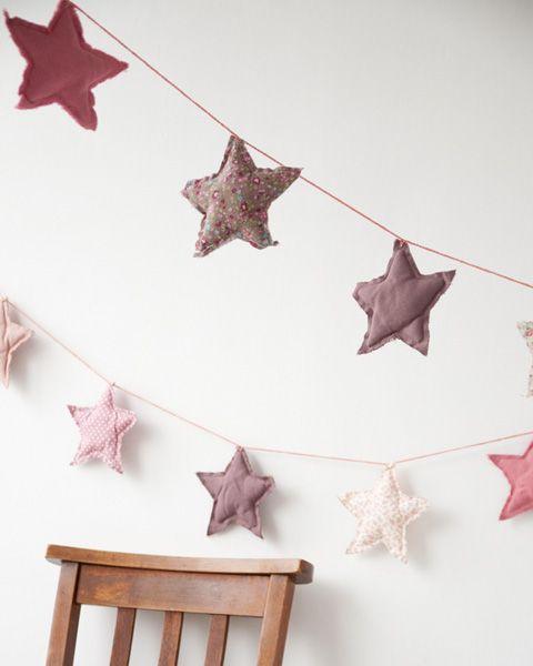 Weihnachten ... Sternen-Girlande nähen