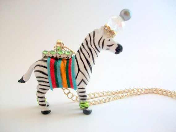 whimsical Animal Necklace by MustardDandelion #etsy #bigtopbooby #boobyball