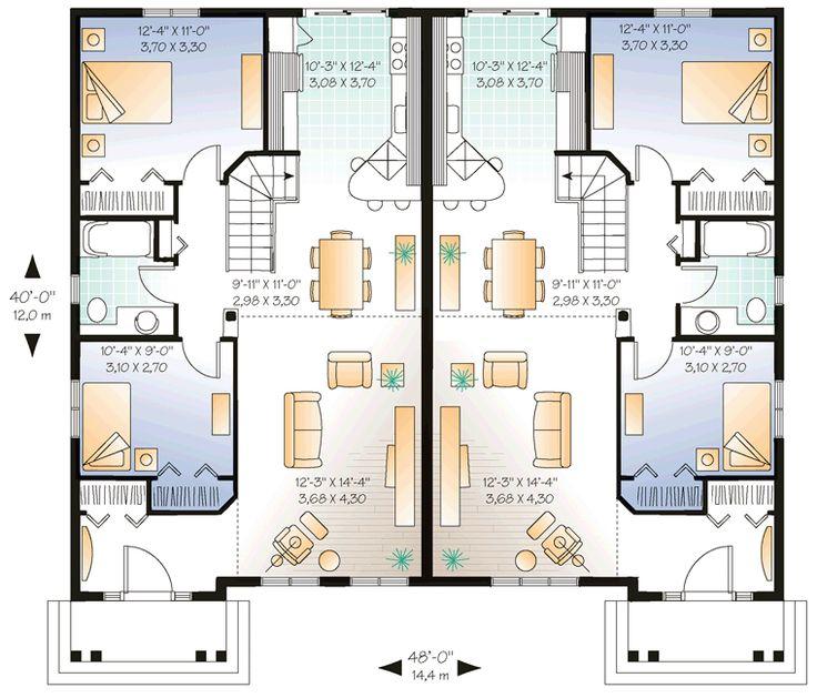 Garage Plan Chp 17570 At Coolhouseplans Com: Duplex Plan Chp-35591 At COOLhouseplans.com