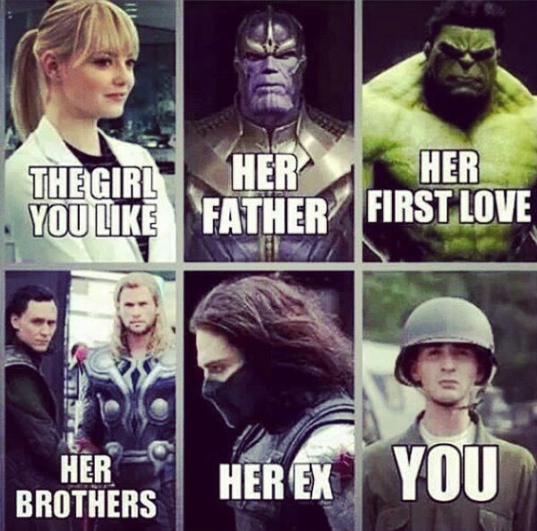 HAHAHA X'D 'her brothers' and 'her ex' had me cracking up so much