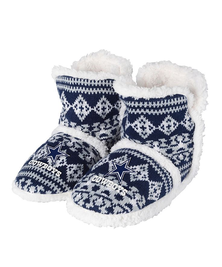 Loving this Dallas Cowboys Geographic Sherpa Boot Slippers - Women on #zulily! #zulilyfinds