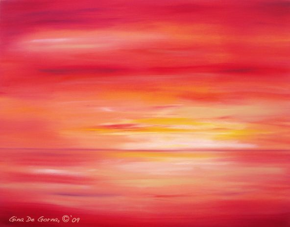 Abstract Sunset Painting Wall Art Pinterest Orange