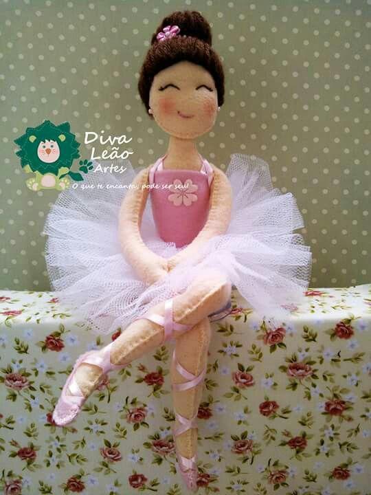 Artesanato Yuki ~ Bailarina feltro Yuki Pinterest Bailarines, Bailarinas de ballet y Ballet