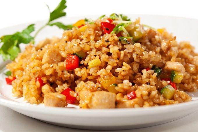 Рис с овощами для быстрого ужина