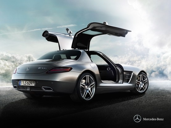 Mercedes-Benz SLS AMG. Two wings make it an icon. The third prevents it from taking off.
