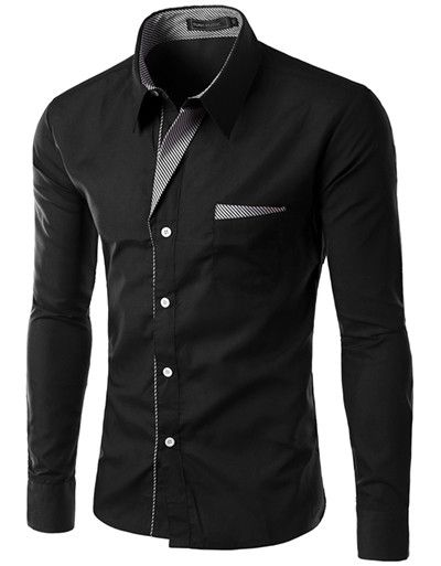 Brand New Mens Formal Business Shirts Casual Slim Long Sleeve Dresse Shirts Camisa Masculina