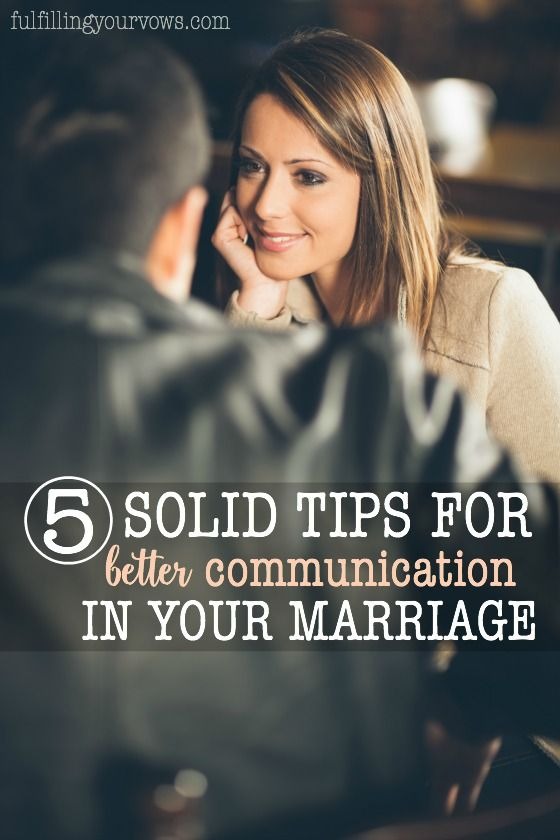 5 Solid Tips for Better Communication in Marriage :: fulfillingyourvows.com