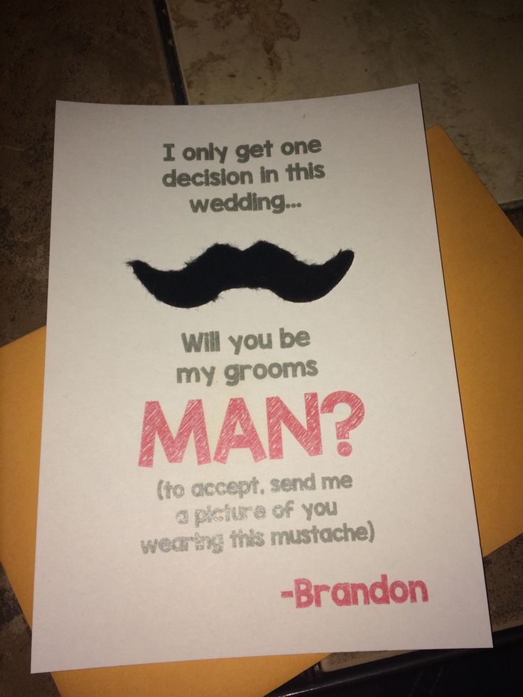 How we asked the groomsmen to be in our line!