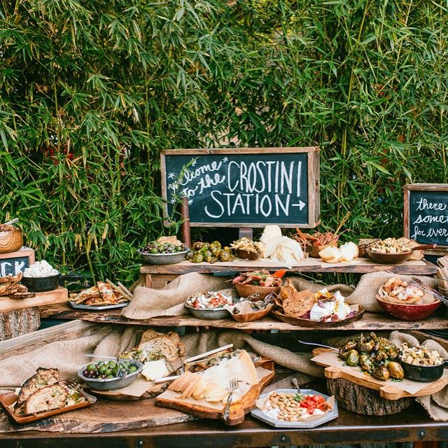 A crostini station best idea ever i love our couples for Food bar 8 0