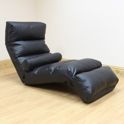 ADJUSTABLE FOLDING BLACK FLOOR LOUNGER/CHAISE LONGUE FAUX LEATHER LOUNGE ARMCHAIR SEAT/CHAIR by Hartleys Furniture, http://www.amazon.co.uk/dp/B00CECAYC6/ref=cm_sw_r_pi_dp_Oh53sb04ETHM3