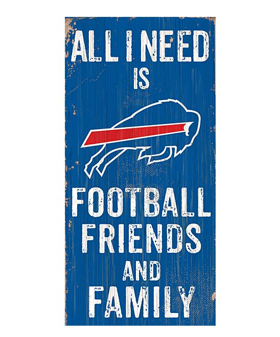 Buffalo Bills 'Football Friends and Family' Wall Sign