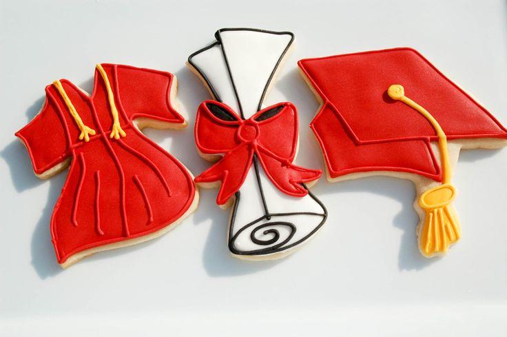 Graduation Cookies gown cap and scroll by Sugarcookiesbybritt