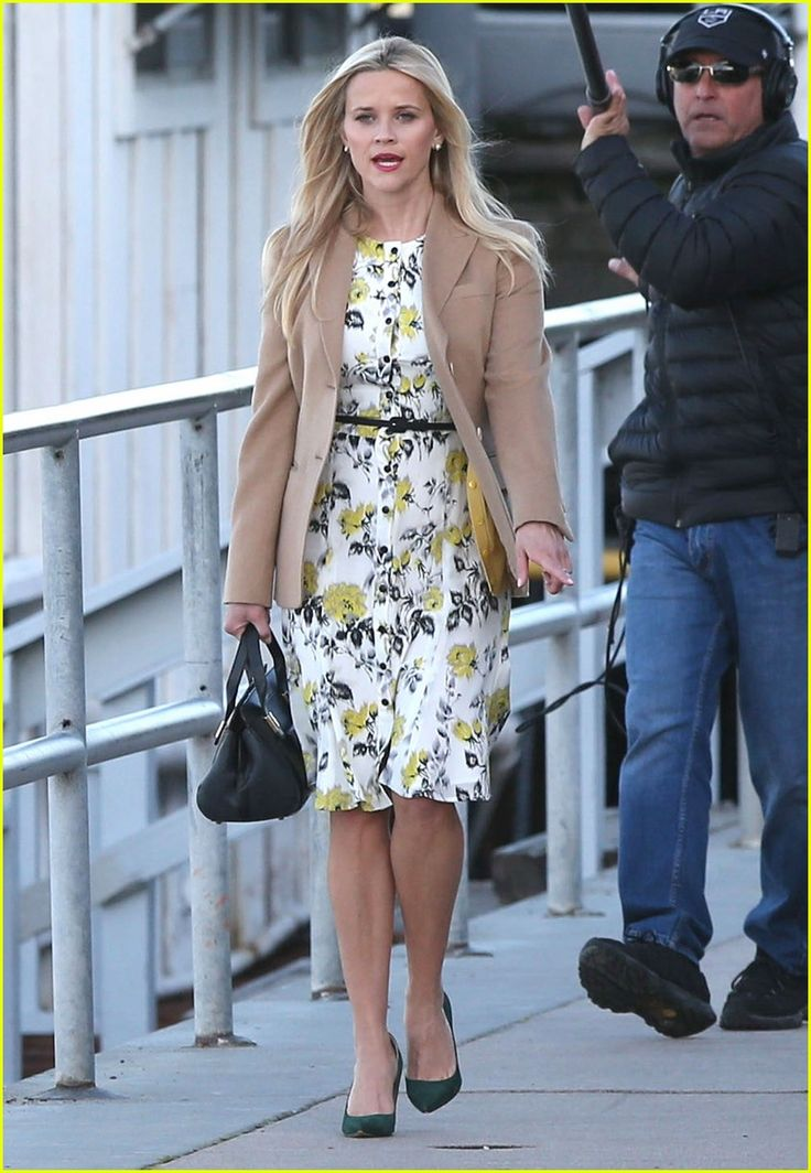 Nicole Kidman & Reese Witherspoon Film on Location For 'Big Little ... in the style of Cynthia Basinet