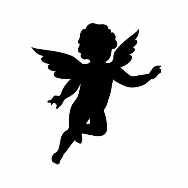 Картинки контуры ангелочков