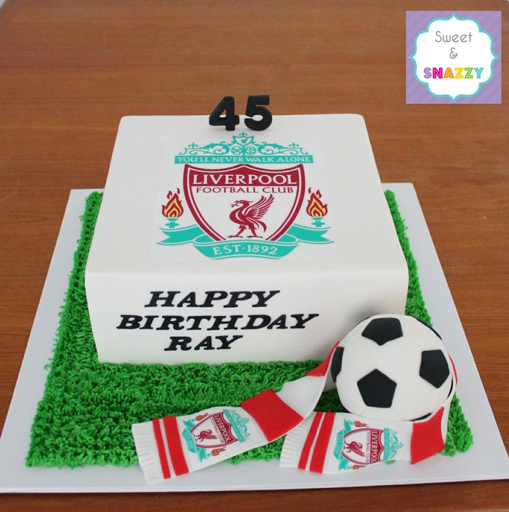Liverpool Football Club Cake - Liverpool cake - soccer - by Sweet Snazzy https://www.facebook.com/sweetandsnazzy