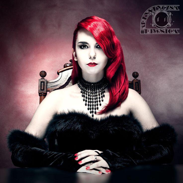 Model: Milena Corleone https://www.facebook.com/milena.corleone.studio Make Up: Ela Mirosław Photographer: Dominik Mirosław  #redhead #red #hair #model #milenacorleone #photography #photoshoot #photomodel #concept #vampire #lady #kingdom #queen #frozen #icekingdom #king #retro #portrait #hairstyle #makeup #look #harsh #elegance #pearls #elegant #necklace #fashion #gloves #fur #chair #old #antique #art #artistic #photo
