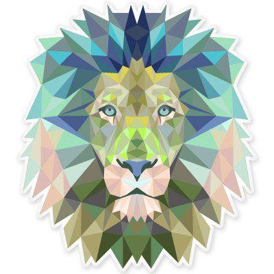 Lion Modern Art Design Vinyl Sticker - Car Window Bumper Laptop - SELECT SIZE