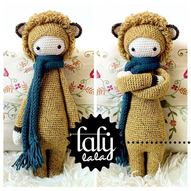 Amigurumi Dolls By Artist Lydia Tresselt : lalylala LONI the lion pattern by Lydia Tresselt Too ...