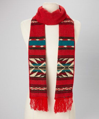 Take a look at this Red Tribal Scarf by EARTH RAGZ on #zulily today!
