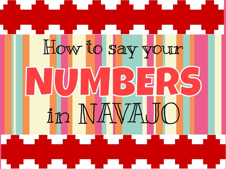 Learn How to say your basic NUMBERS in the Navajo Language - numbers 1 through 10.