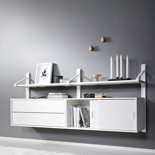 LINK shelf system is also available in white - you can build your own…