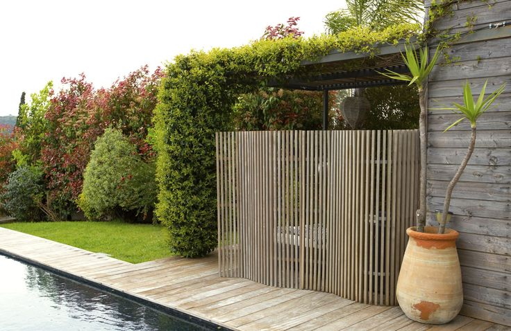 Schermatura in legno / da terrazza / da giardino / su misura - KIT-KURLY