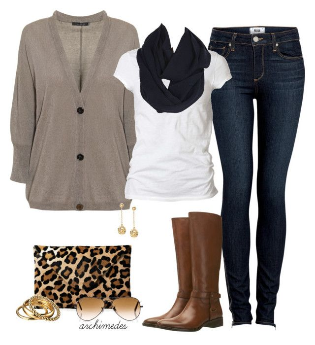 """""""Leopard Clutch"""" by archimedes16 ❤ liked on Polyvore featuring Paige Denim, Mint Velvet, Jaeger, AllSaints, Nicole Farhi, Ray-Ban, D&G, women's clothing, women and female"""