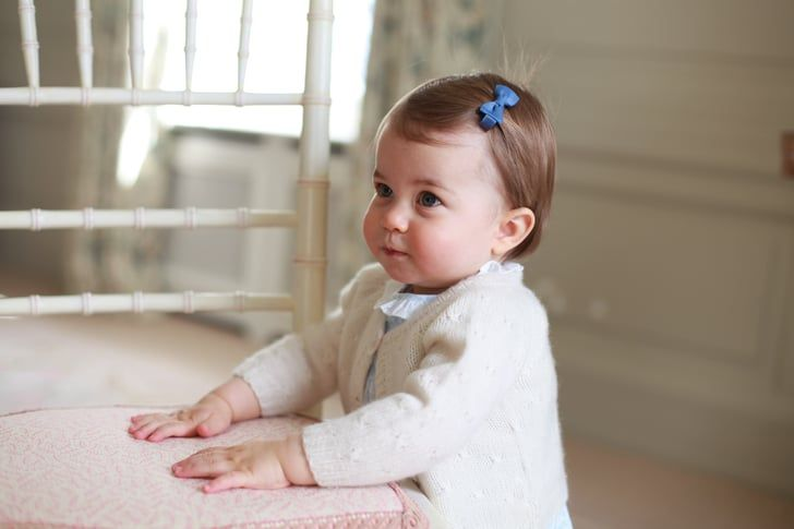 Pin for Later: Prince George and Princess Charlotte's Best Pictures From 2016 — So Far Princess Charlotte looked all grown up during her precious photo shoot released ahead of her first birthday in May.