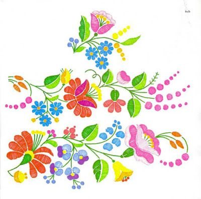 Hungarian 'Kalocsai' embroidery pattern