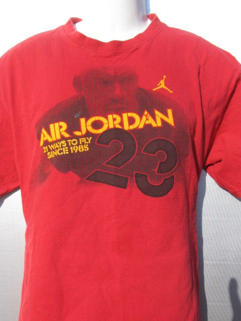 90s Nike Air Jordan 21 Ways To Fly Since 1985 red 2 sided T-shirt Men's Size XL…