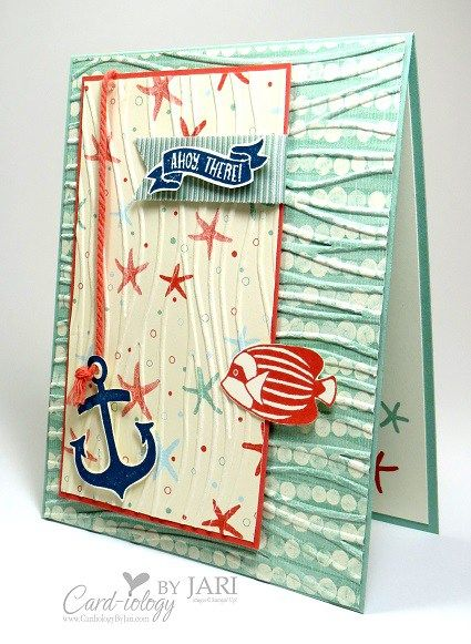 So cute...embossed papers, fussy cuts thick bakers twine