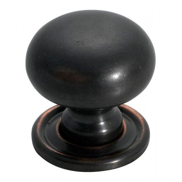 Antique Copper Kitchen Cupboard Knob 25mm - Restoration Online