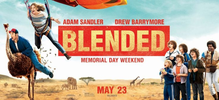 Blended+Movie+Poster | New Posters of Blended – Adam Sandler is fond of ostrich riding!
