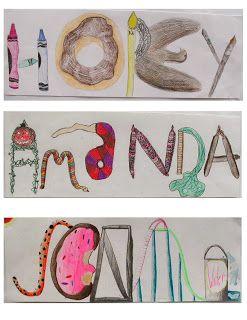 In Art We Trust: 5th Grade name illustrations
