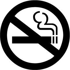 La señal de no fumar