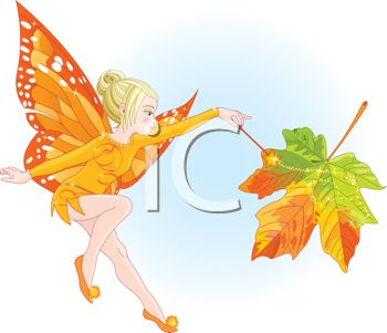 iCLIPART - Royalty Free Clipart Image of a Young Fairy Holding a Magic Wand