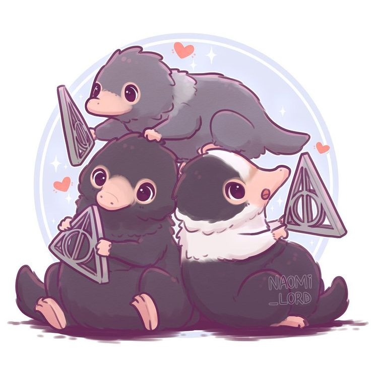 ✨Baby Nifflers!! ✨? Super excited to see Crimes of Grindelwald! So had to…