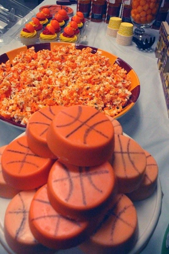 1000 images about sports birthday party ideas on for Basketball craft party ideas