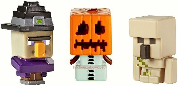 Zestaw figurek Minecraft Iron Golem,Snow Golem,Witch