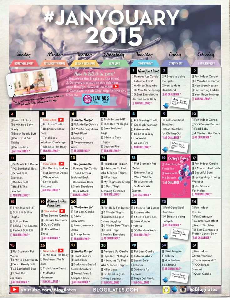 Workout Calendar Ideas : Best ideas about ilates calendar on pinterest