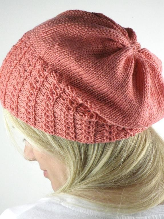 Faux Cable Slouchy Hat - via @Craftsy