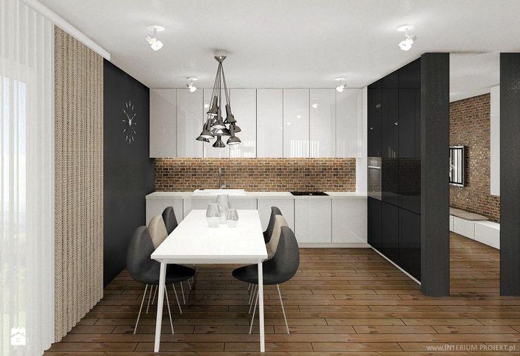 Zdjęcie: Salon a aneksem kuchennym i jadalnią - Kuchnia - Styl Skandynawski - Interium Projekt