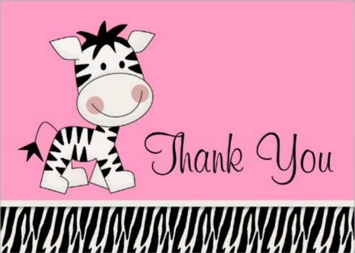 zebra print baby shower thank you cards - Zebra Baby Shower Theme Should Reflect in Everything for the Party – Home Party Theme Ideas