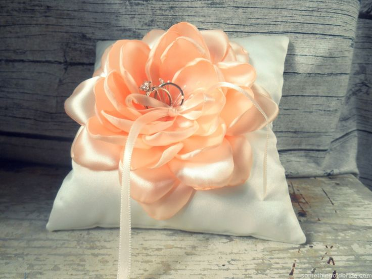 Ring Pillow with Silk Flower by Something Old Bride http://somethingoldbride.com/